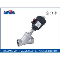 Pneumatic Angle Seat Valve thread connection with plastic stainless steel valve