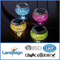 Spuer bright led outdoor lawn lamps XLTD-514 decorative mosaic jar solar lamps
