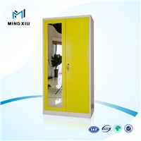 China mingxiu 2 door clothing steel wardrobe / bedroom cupboards design