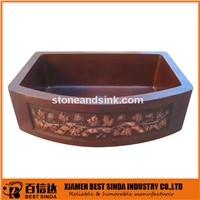 CSA approved hammered kitchen copper sinks