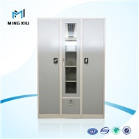 Mingxiu high quality 3 door steel wardrobe / bedroom wardrobe safe locker inside