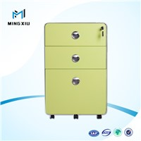 China mingxiu 3 drawer metal file cabinet / 3 drawer mobile pedestal cabinet