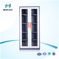 Mingxiu office furniture 2 door lightweight steel filing cabinets / glass door cabinet
