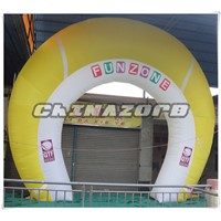 Beautiful Rainbow Shaped Customized Inflatable Arch for events