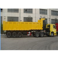 Cargo box tri-axle 60 ton heavy dump trailer