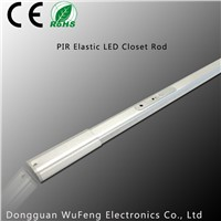 Elastic fir different size wardrobe LED Closet Rod