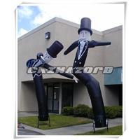Inflatable Sky Dancer Air Man Getleman With Vivid Apperance