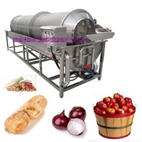 Drum-type Fruit Vegetable Washing Peeling Machine