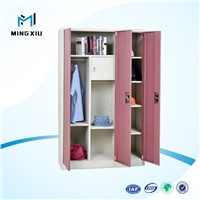 Top quality factory direct sales 3 door almirah design / cheap wardrobe closet