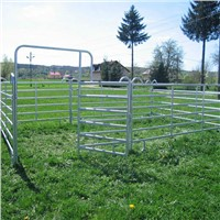 Hot Galvanized Round Pipe Portable Horse Metal Livestock Farm Fence Panel