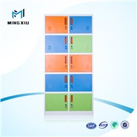 China mingxiu employee steel locker / 10 door steel locker