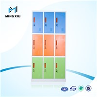 Luoyang high quality powder coated steel storage lockers / 9 doors metal cabinet