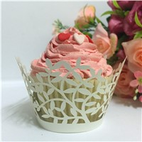 Cupcake Laser Cut Clouds Design Cake Paper Wrapper Muffin Wrap Surround Edge Birthday Party Decor
