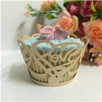 Flower Laser Cut Vine Cupcake Wrappers Beautiful Cup Cake Topper for Reception Banquet Bridal Shower