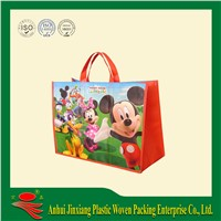 Flashing and glossy pp non woven shopping bag
