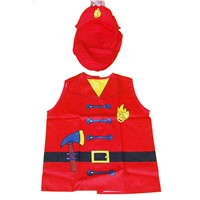 ML-AP-2001 RED FIREMEN COTTON CHILDRENS APRONS