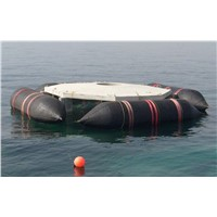Rubber airbag/pontoon for marine structures/equipments floating.