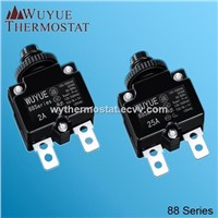 Manual reset mini 88 series thermal overload protector, circuit  breaker