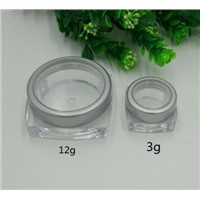 Mini 3ml 12gml Plastic Square Cosmetic Jar Cosmetic Single Jar