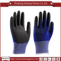 SeeWay 811 18 gauge Cleanroom PU coated Gloves esd antistatic