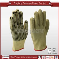 SeeWay B503 Best grip labor gloves aramid working knitted gloves with pvc dotted