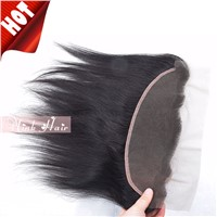 Brazilian Human Hair Full Lace Frontal 13*4 Straight Ear To Ear Bleached Knots Lace Frontal