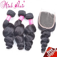 Free Sample Human Hair Extensions From One Donor 100% Unprocessed Loose Wave Peruvian Virgin Hair