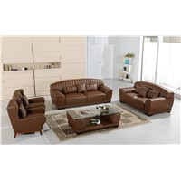 With table Living Room Genuine Leather Sofa