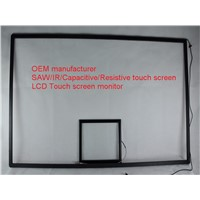 (12.1-100'') 40 inch no blind spot low cost anti-reflection  IR touch screen