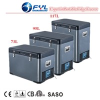DC12V24V Compressor fridge freezer for truck and van
