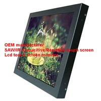 (8-55'') 18.5 inch high accurancy high light transmission saw touch monitor