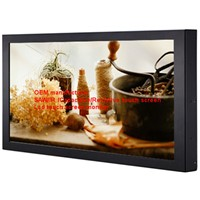 (8-55'')22 inch low power consumption high contrast anti-jam anti-shock saw touch monitor