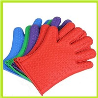 Heat resistant 172g five fingers ilicone gloves
