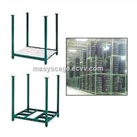 Industrial Warehouse Portable Powder Coating Storage Steel Stacking Rack