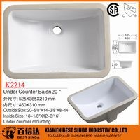 Rectangular ceramic sink, ceramic sanitary ware