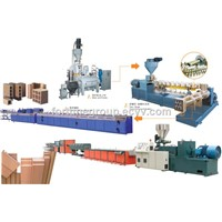 WPC line (wood plastic composited panel line) (PE, PP, PVC )