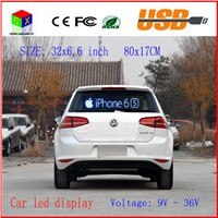 indoor programmable image LED Car display  RGB full color LED advertising screen display