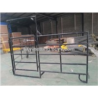 Oval Tube Cattle Fence Panel/Oval Tube Portable Metal Horse Fence Panel Wholesaler Discount