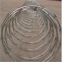 Galvanized Concertina Razor Barbed Wire Cross Type BTO-22 with 980mm Outer Diameter