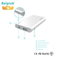 5000mah, 8000mah, 10000mah mini size portable power bank