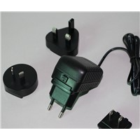 10W 5V2A Interchanrgeable Plug Switching Adapter with AU EU US UK Replacement Plug