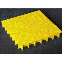 FRP GRATING WITH DIAMOND TOP COVER