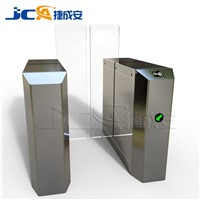 Fast speed entrance gate design automatic pedestrain control fingerprint sliding barrier gate
