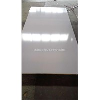 BRUSERSTANG Melamine Faced MDF Board. HIGH GLOSSY. TITANIUM WHITE COLOR