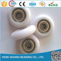 Low price ! White nylon Pulley Wheel for sliding Door and Window
