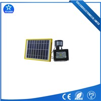 IR Sensor/Induction 10W Solar Flood LED Outdoor Lighting White Light 6500K IP65 800 Lumen