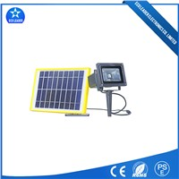 Lawn/Garden Lighting 10W Solar LED Rechargeable Flood Light Waterproof IP65 RF Control
