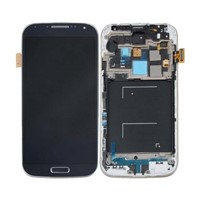Black/White Samsung Galaxy S4 i545 L720 R970 LCD Screen Digitizer Assembly + Frame
