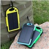 Solar Power Bank 5000mAh Waterproof Portable Solar Charger for iPhone iPod iPad Samsung Cell Phones