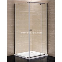 Chrome aluminum profile,swing door shower enclosure